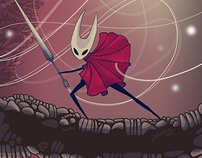 Hollow Knight - Silksong tribute to Hornet (fanart)