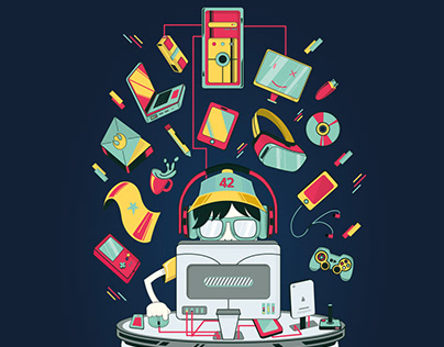 Geek Proud Illustration
