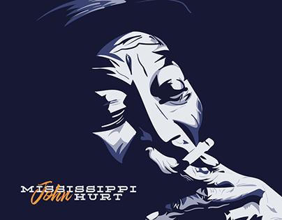 Blues Poster - Mississippi John Hurt