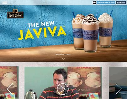 Peet's Javiva Tumblr Responsive Microsite