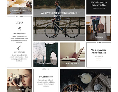 Yonkers - Trendy Masonry Grid Portfolio Joomla Template