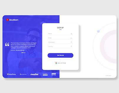 Sign Up UI Design
