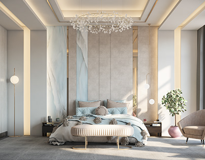 Modern master bedroom (Apamia) Dubai