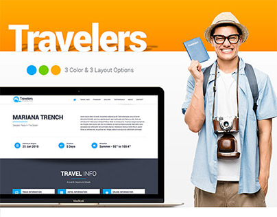 Traveler Website Design