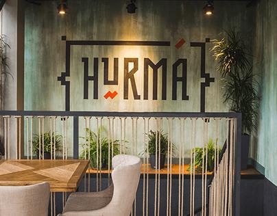 """HURMA restaurant & lounge bar"". Branding, promo."