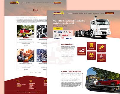 Transportation & Logistics Business PSD Template