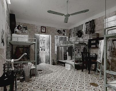 3D Interior Student Dorm Room Scene 3dsmax By CuongTran