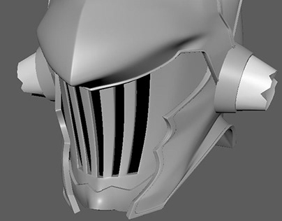 Modelado de casco de Goblin Slayer