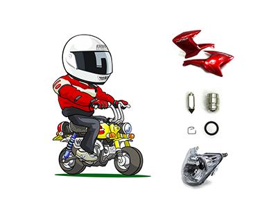 Escudero Moto Peças - Logo, Fotografia de Produto