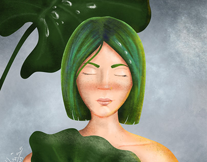 Summer Rain - character illustration