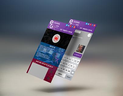 EGLX Blogging App Mockup