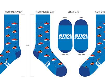 RIVA Racing WaveBlaster Sock Design