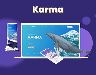 Karma UI Design | Crowdfunding platform