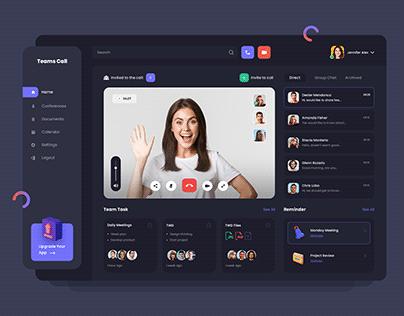 Video Conference Dashboard Design