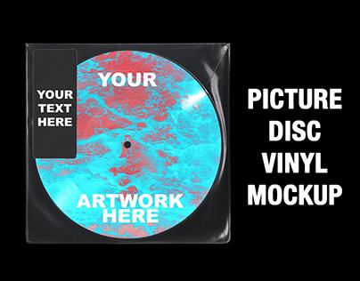 Picture Disc Vinyl Mockup