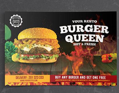 Burger Queen Landscape Flyer