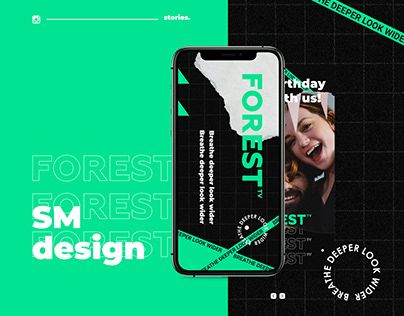 Social media design for the company FOREST TV