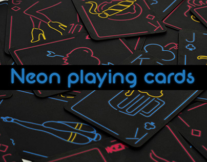 Neon playing cards