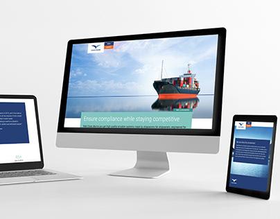 Clean Marine website design
