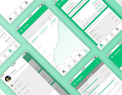 Green: Personal Finance App Design