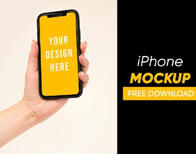iPhone Mockup - FREE PSD Download