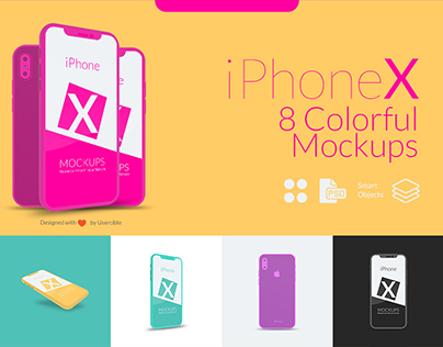 iPhone X Colorful Mockups