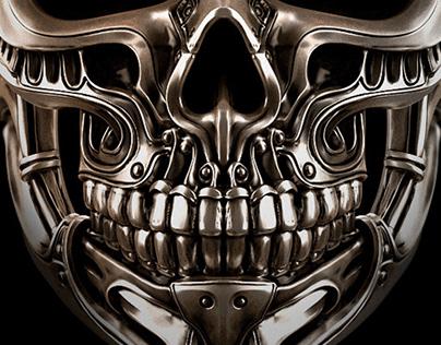 Chakra skull ring