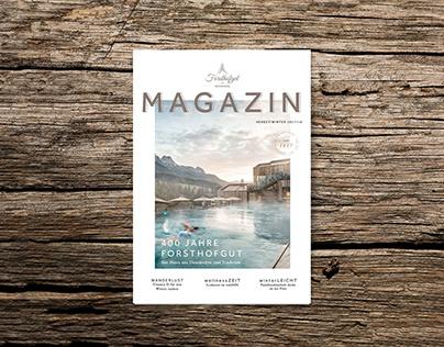 HOTEL FORSTHOFGUT – Rebranding Magazin REVUE {2017}