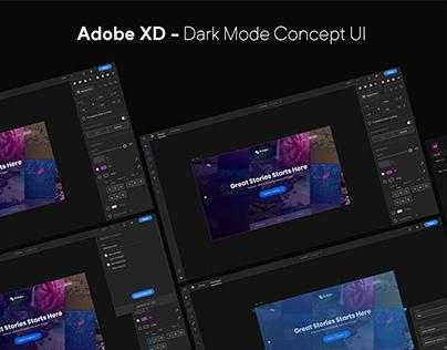 Adobe Xd - Dark Mode UI