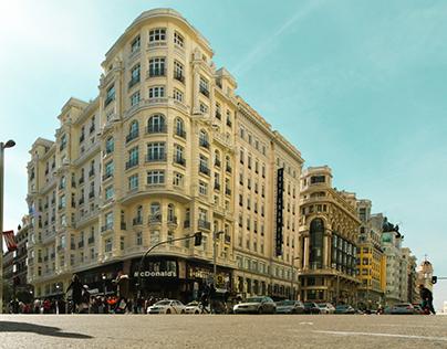 Restauración de fachada en Calle Montera 47 - Gran Vía.