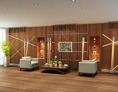 Lobby of AFRA hotel, Oghuz Azerbaijan.