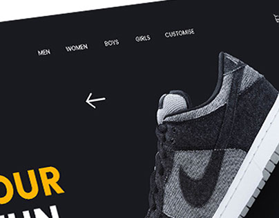 CONCEPT DESIGN FOR NIKE WEBSITE