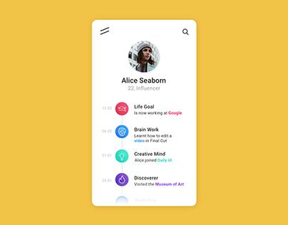#06 Daily UI // User Profile