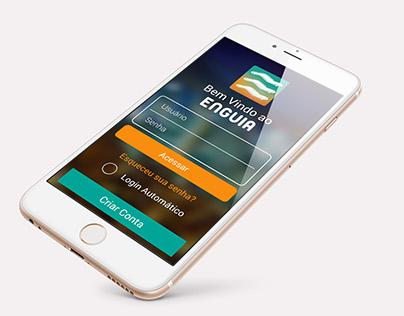 """Enguia"" brand identity and app/web layout"