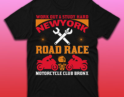 Road Race Motorcycle T-shirt Design