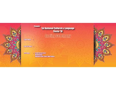 Warm Backdrop for 1st MGBS National Language fiesta