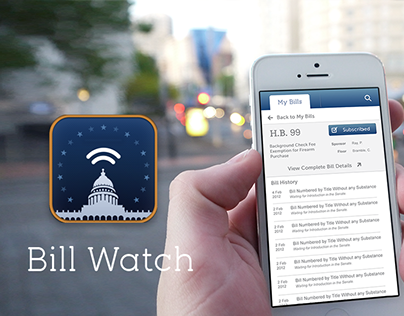 Legislative Bill Watch for iOS and Android