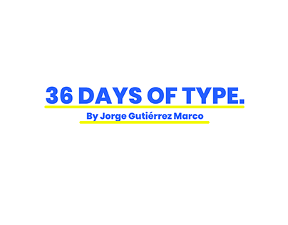 36 Days of Type: Primitives