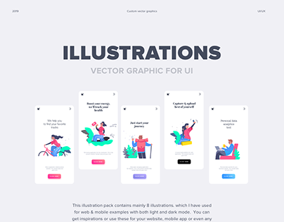 Illustrations pack for UI