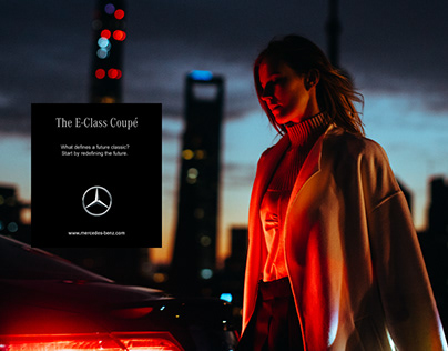 Mercedes-Benz奔驰E-coupe平面拍摄