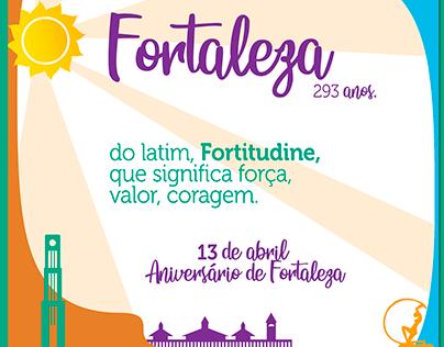 Aniversário de Fortaleza - Mídias Sociais