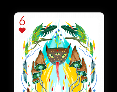 6 of Hearts for Playing Arts