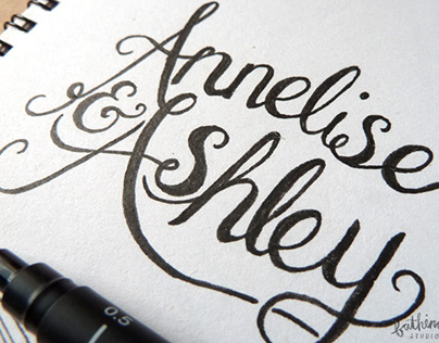 Hand Lettering for Wedding Stationery