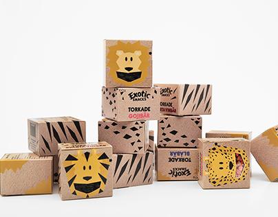 Exotic Snacks Kids Concept