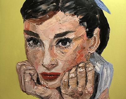 """ Audrey "" 50x70 cm oil by Engin YILDIZ art"