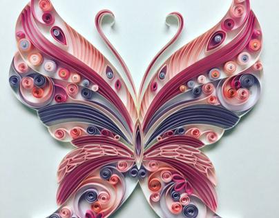 Paper art Butterfly design