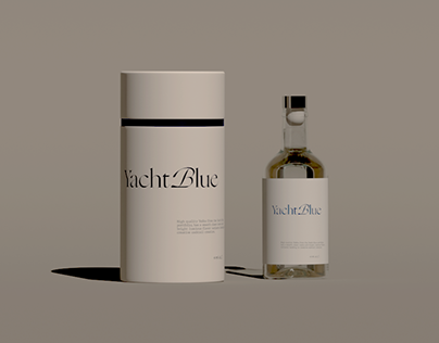 Yacht Blue Vodka - Packaging