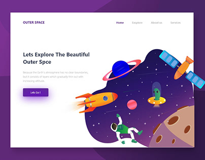 Outer Space Header Illustration