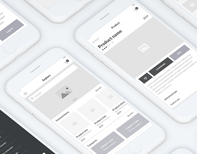 My Store Concept Wireframe (Mobile UX)