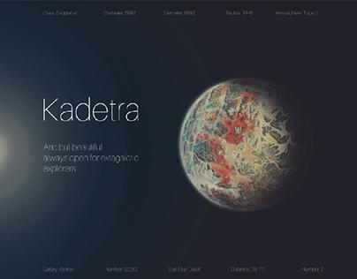Planet Kadetra Beautiful and Abstract.